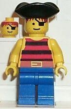 LEGO 6279 - PIRATES - Pirate Black Stripes Shirt, Blue Legs - MINI FIGURE