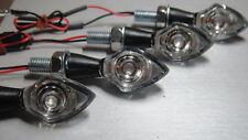 ►4X LED MINIBLINKER CHROM NANO YAMAHA DRAG STAR,YZ80B,C,D,MX80H,DX100H,FZR,TY80