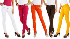 Sexy Womens Coloured Skinny Slim Fit Jeans  Sizes 36 - 42(S-XL) HQ FS-Y
