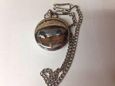 Austin Healey Frog Eyed Sprite ref16 emblem on polished silver case pocket watch
