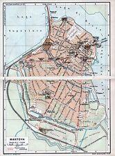 Mantova 1916 picc. pianta di città orig. + guida (16 p) Pradella Pusteria Molina