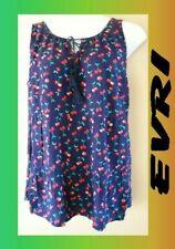 WOMEN'S PLUS SIZE 1X 16W EVRI FLOWING SUMMER TANK CHERRIES BLOUSE CLOTHING - NEW