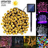 Solar Power LED Fairy String Lights Waterproof Outdoor Garden Party Fence Lights