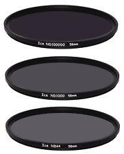 ICE DARK ND Filter Set 58mm ND100000 ND1000 ND64 Neutral Density Optical Glass
