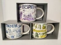 Star Wars Starbucks Been There Mugs COMPLETE SET of 3 Hoth, Bespin, Dagobah NEW!