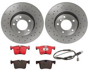 Brembo Front Brake Kit Drilled Disc Rotors Ceramic Pads Sensor For BMW F30 F36