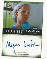 Megan Leitch The X Files Ufos & Aliens Paranormal Script Autograph Card Auto