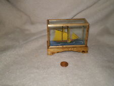 Ship in a Glass and Wood Case, Vintage
