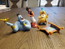Disney Store Authentic aladdin figure lot Cake Topper flying carpet sultan genie