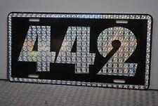 RETRO 1970'S PRISM 442 METAL LICENSE PLATE OLDS OLDSMOBILE CUTLASS W-30 W-31 455
