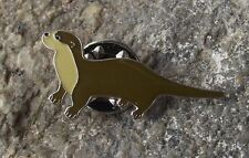 North American Otter Brooch Aquatic Furry Cute Mammal Protection Pin Badge