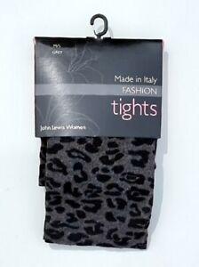 John Lewis Fashion Tights Various Patterns S/M/L Black Grey Navy
