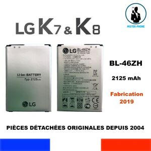 BATTERIE ORIGINE BL-46ZH LG K7 K8 3G 4G SERIES 2125mAh  NEW GENUINE ORIGINAL OEM