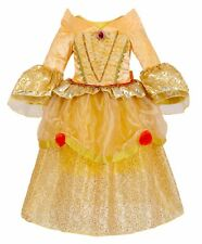 Kids Girls Beauty and the Beast Princess Belle Yellow Party Dress Costume O73
