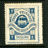 Norway Stamps 1877 Local THRONDHIEM PART OG