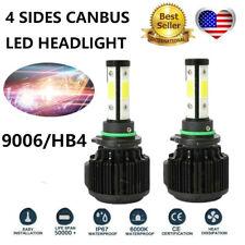 2pcs Car 4 Sides 9006 HB4 LED Headlight Kits COB 120W 32000LM Single Beam 6000K