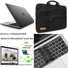 "[Black Series] Hard Plastic Case Cover+Laptop Bag+Keyboard 13"" Macbook Pro A1708"
