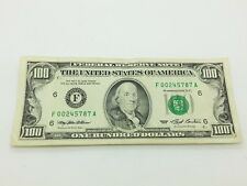 Old Paper Money 1993 One Hundred $100 Dollar Bill Federal Reserve Note