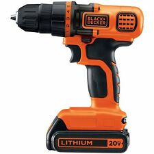 20-Volt Compact Wood Plastic Metal Cordless Screw Power Hand Tool Drill Driver
