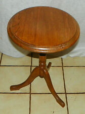Oak Carved Plant Stand / End Table  (PS175)