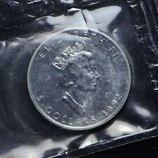 1992 Canada $5 Maple 1-oz .9999 Silver In Original Plastic (slb2048)