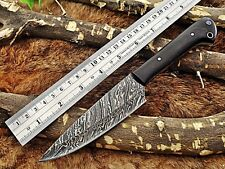 "9"" long Damascus Steel kitchen Knife 5.5"" long full tang Hand Forged blade, Horn"