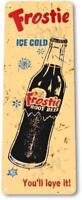 Frostie Ice Cold Root Beer Soda Beverage Rustic Retro Tin Metal Sign