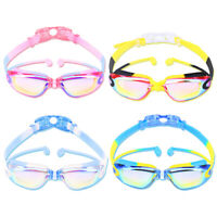 Silicone Transparent Swimming Goggles Anti-fog UV Kids Sports Eyewear Glasses HU