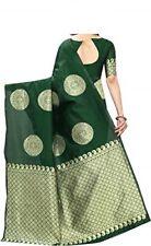 Zari Work Breathable Banarasi Sarees Indian Tradtional New Wedding Sari wts03