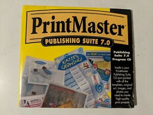 PrintMaster Gold Publishing Suite Version 7.0 CD-ROM Windows 95/3.1 by Mindscape