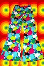 30✪ 60er 70er Jahre bunte Hippie Herren Schlaghose Revival Boney M Gr. 48 - 50