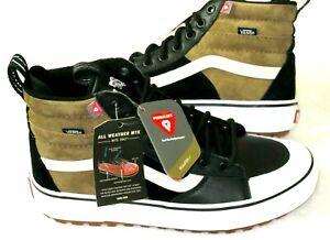 Vans Men's Sk8-Hi Mte 2.0 Dx Skate Boots Dirt Brown True White Black Size 12 NWT