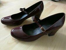 Office Burgundy Mary Jane Court Shoes, Size 41/7.5 UK