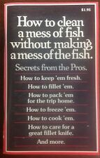 How To Clean A Mess Of Fish Without Making A Mess Of Fish (1978,Paperback)