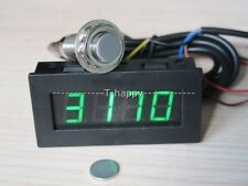 Digital LED Tachometer RPM Speed Meter+Hall Proximity Switch Sensor NPN 12v GREE