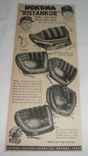 1952 Nokona baseball gloves ad ~ CARL ERSKINE, CHICO CARRASQUEL