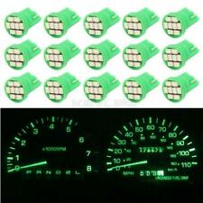15pcs Green T10 194 168 2825 LED Dash Light Car Gauge Indicator Light Lamp