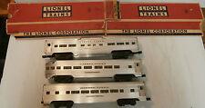 Lionel #'s 2531/2532/2534 Passenger Cars w/(2) Orig. Boxes