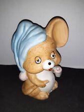 Vintage 1980's Josef Sleepy Baby Mouse with Bottle Ceramic Night lite (no light)