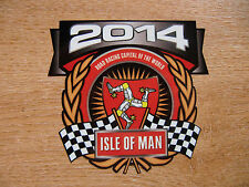 1x decal - ISLE OF MAN RACES 2014 crest/shield - size 90mm