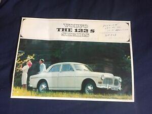 1965 1966 Volvo 122S Amazon Sedan USA Market Color Brochure Catalog Prospekt