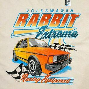NWOT Volkswagen VW Rabbit Extreme Racing Equipment Beige Shirt Men's MEDIUM
