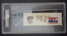 MICHAEL JORDAN PSA/DNA AUTOGRAPH CUT 1989 KNICKS PLAYOFFS Signed Signature HOF