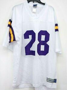 New Nike NFL 28 Minnesota Vikings Football Vintage Throwback Fan Jersey Shirt XL