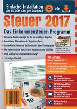 Steuer CD 2017 Einkommenssteuer Programm Aldi NEU Steuererklärung Steuerprogramm