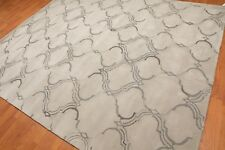 8' x 10' Handmade Kaashan 100% Wool Traditional Oriental Area rug 8x10 Gray