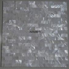 11PCS groutless white brick shell mosaic kitchen backsplash background wall tile