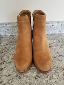 Sorel Womens Camel After Hours Chelsea Wedge Boots Suede NL2951-224 US 9