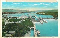 Puget Sound to Lake Washington~Ships~Canal Locks Second to Panama~1916 Postcard