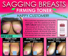 Chemical Free All Natural Breast Firming Toner Herbal Toning Lift for Sagging